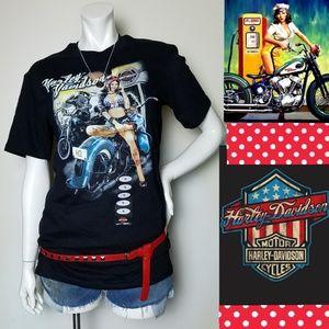 NWT RARE Harley Davidson Rockabilly PinUp T-Shirt
